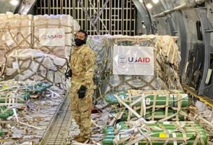 First consignment of medical supplies from US lands in India