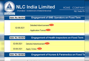 NLC Recruitment 2021: Apply for 65 SME Operators - Times of India