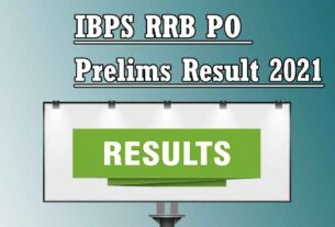 IBPS RRB PO Prelims Result 2021 Released – For Officers Scale 1