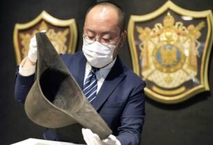 Newly discovered Napoleon hat with DNA previews in Hong Kong