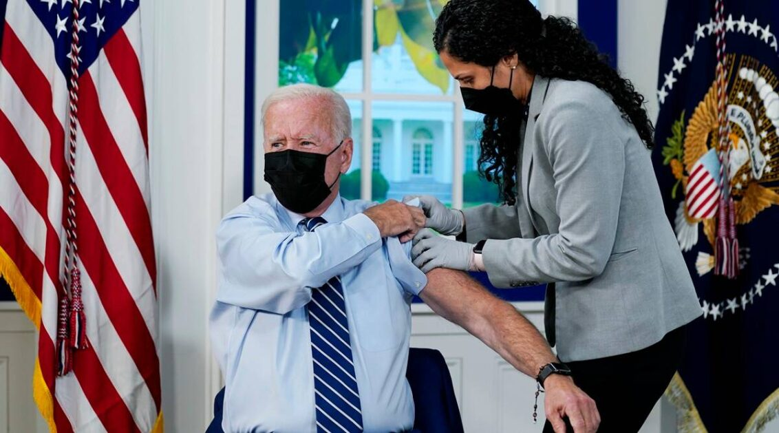 Biden gets Covid-19 booster shot as additional doses roll out