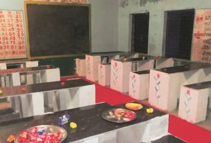 Dining tables in govt schools: 'Wanted to serve meals in dignified manner, on table instead of floor'