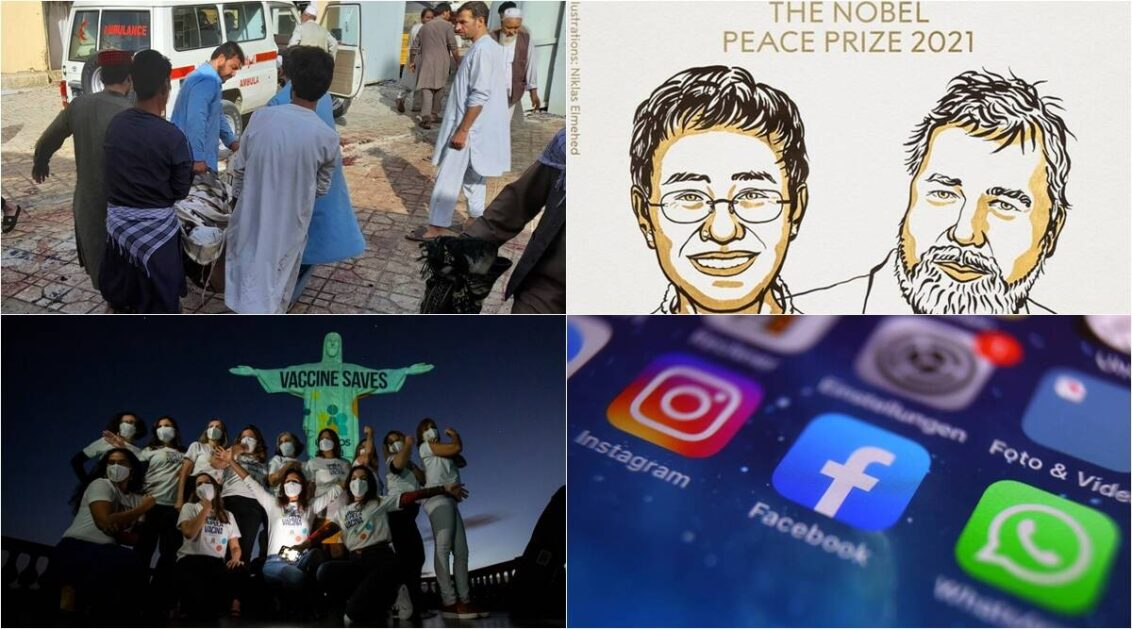From Afghan bombing to Nobel prize: 5 overnight developments from around the globe