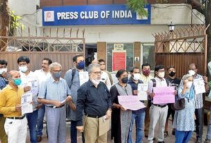 Journalists stage protest in Delhi demanding release of Siddique Kappan